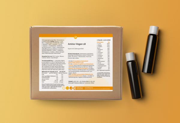 Amino-Vegan 18 liquid Ampullen mit Süßungsmittel
