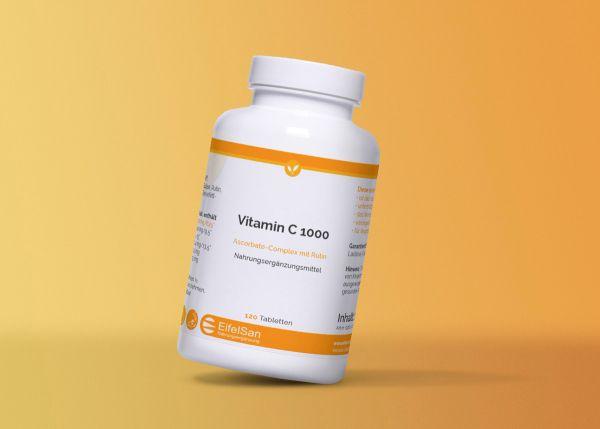 Vitamin C 1000 Ascorbat-Complex mit Rutin - vegan