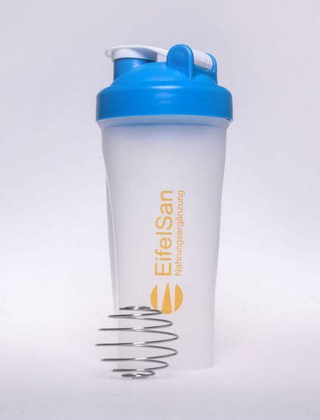 Protein Shaker mit hochw. Edelst. Feder