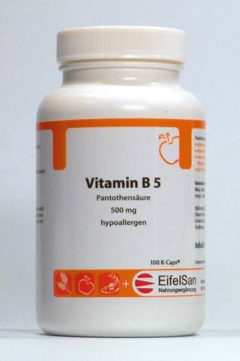 Vitamin B 5 Pantothensäure