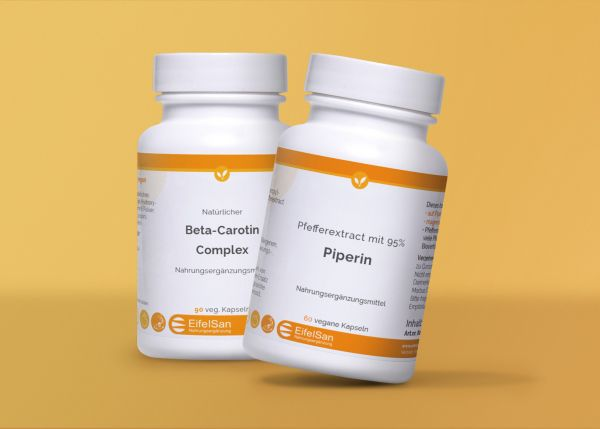 Beta-Carotin Complex vegan + Piperin 8 mg aus Pfefferextract
