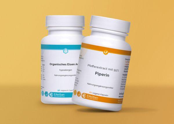 Organisches Eisen+ Activ + Piperin 8 mg aus Pfefferextract