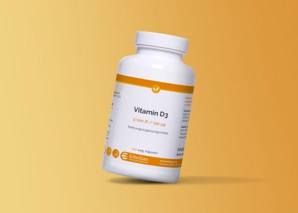 Vitamin D3 5000iE mit Lezithin und MCT Öl