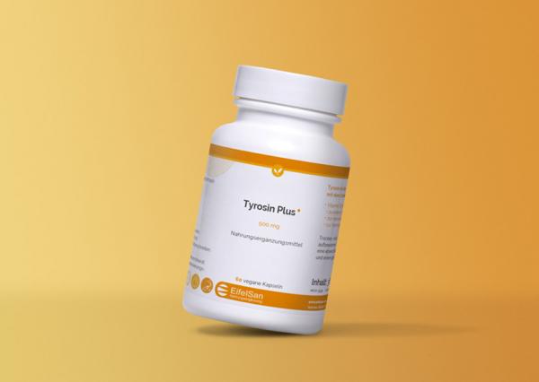 L-Tyrosin PLUS 500 mg vegan mit Vitamin B3 Niacin