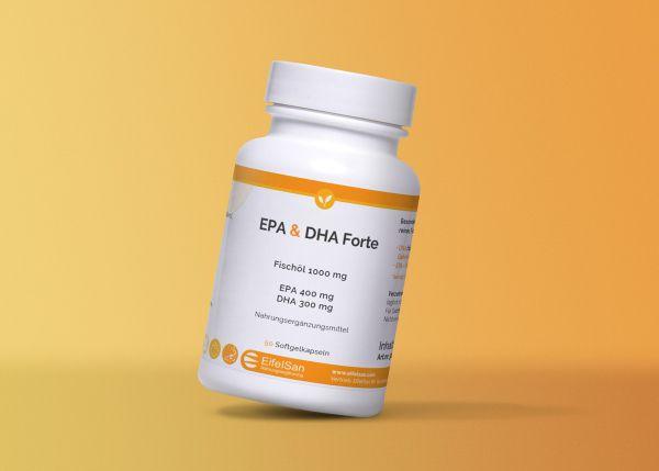 Omega 3 EPA DHA Forte Fischöl 90 Kapseln
