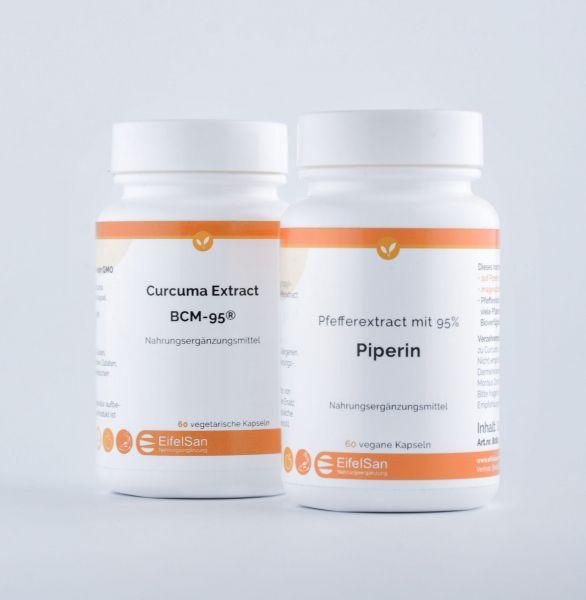 Curcuma Kapseln + Piperin 8 mg aus Pfefferextract