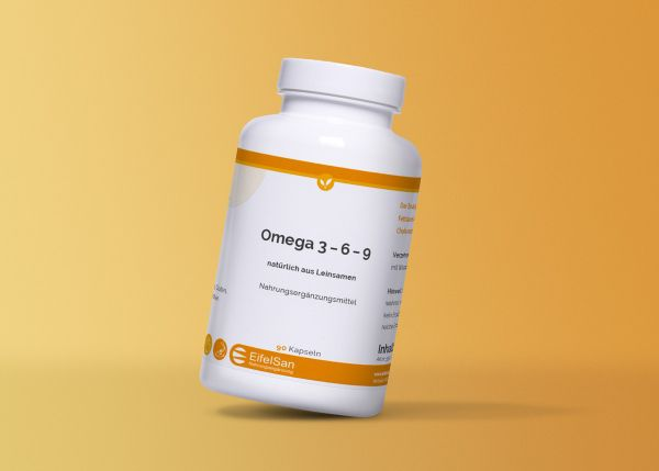 Omega 3 - 6 - 9 aus Leinsamen 90 Kaps.