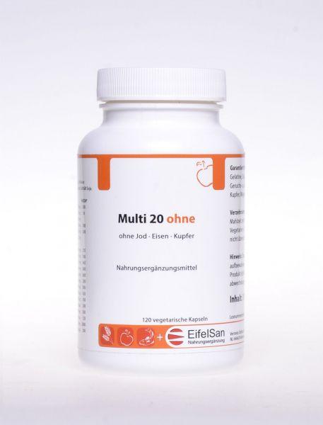 Multi 20 ohne Jod · Eisen · Kupfer