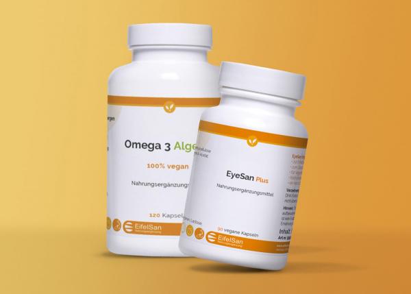EyeSan Plus & Omega 3 Algenöl DHA + EPA vegan