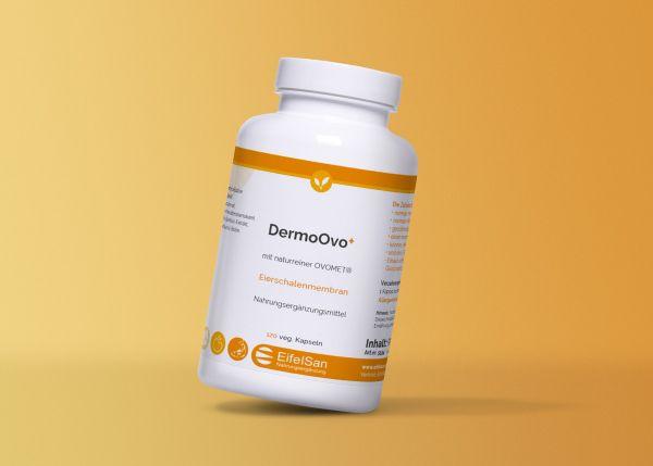 DermoOvo versorgt Bindegewebe, Haare + Nägel mit Zink + Vit. C
