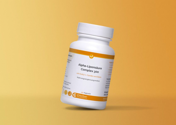 Alpha Liponsäure Complex 300 mit Acetyl-L-Carnitin + Biotin