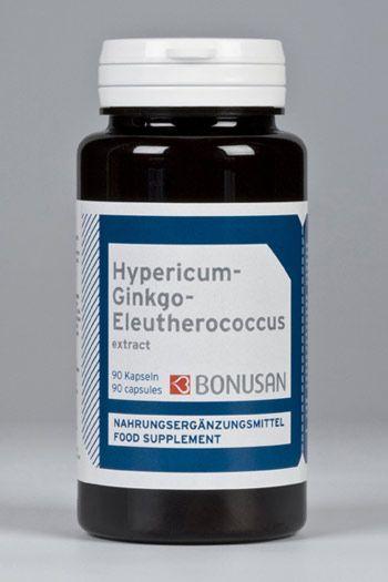 Johanniskraut-Ginkgo biloba-Eleutherococcus Extrakt